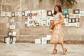 the mysterious girl,blogger,top,skirt,shoes,bag,high heel sandals,summer outfits,cult gaia bag,midi skirt