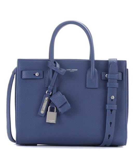 Saint Laurent baby bag shoulder bag leather blue