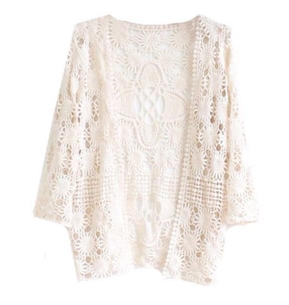 cardigan lace dentelle t-shirt