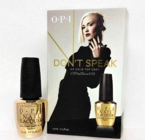Amazon.com: OPI Nail Lacquer - Don't Speak - 18K Gold Top Coat - 15ml / 0.5oz: Health & Personal Care