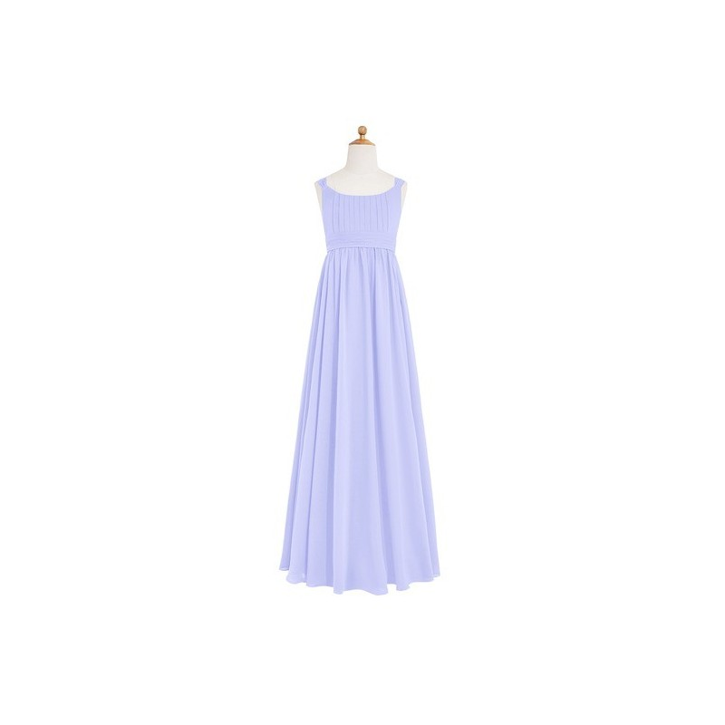 54ddcb73631 Lavender Azazie Tiana JBD - Floor Length Bow Tie Back Scoop ...