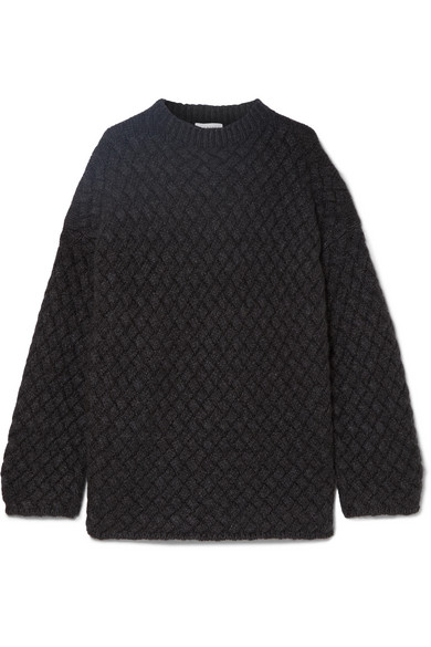 Mansur Gavriel - Oversized basketweave cashmere sweater