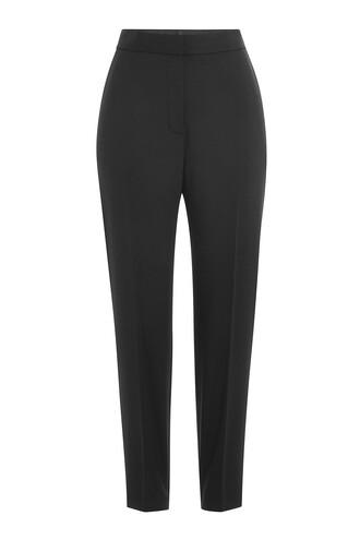 pants high waist pants high wool black