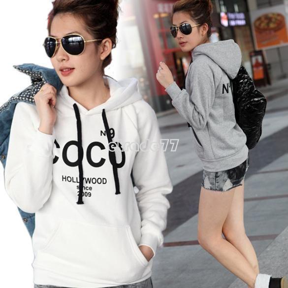 New Korea Women Hoodie Sweatshirt Tracksuits Outerwear Tops Hot Fashion | eBay