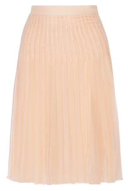 skirt pleated skirt chiffon pleated silk blush