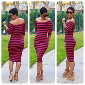 dress,striped dress,maxi dress,long sleeve dress,bodycon dress,off the shoulder,michael kors,midi dress,off the shoulder dress