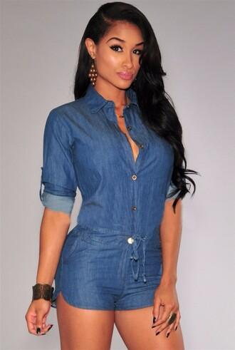 jumpsuit jeans jeans jumpsuit summer outfits hot fashion