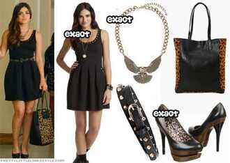 dress pretty little liars necklace shoes bag belt