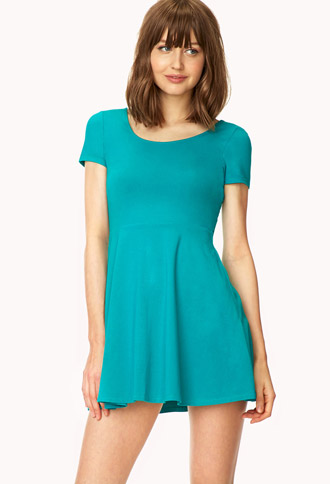 Short Sleeve Skater Dress | FOREVER 21 - 2041439987