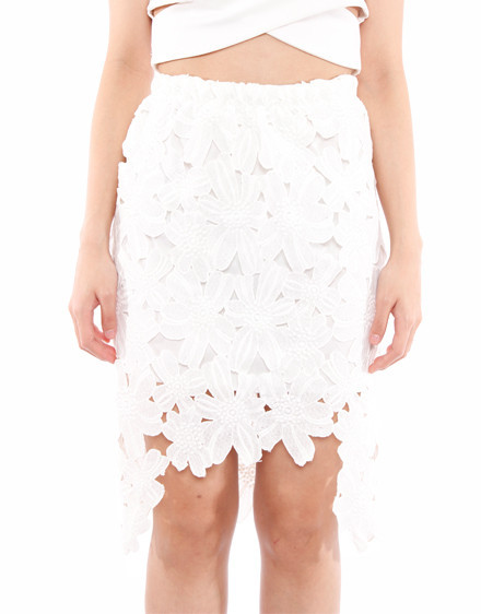 Tea Party High Low Laces Skirt (2 colors available) – Glamzelle