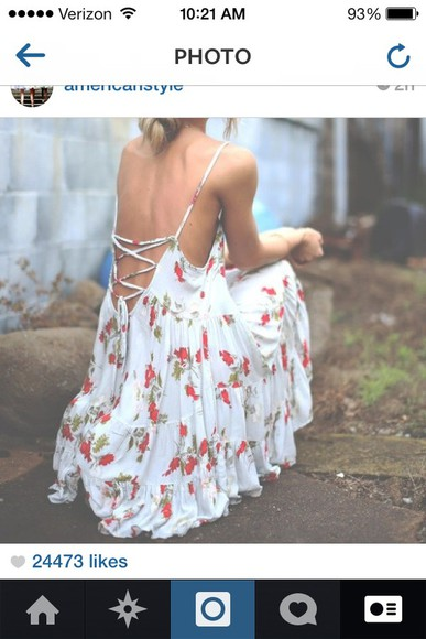 floral dress sundress style lowback