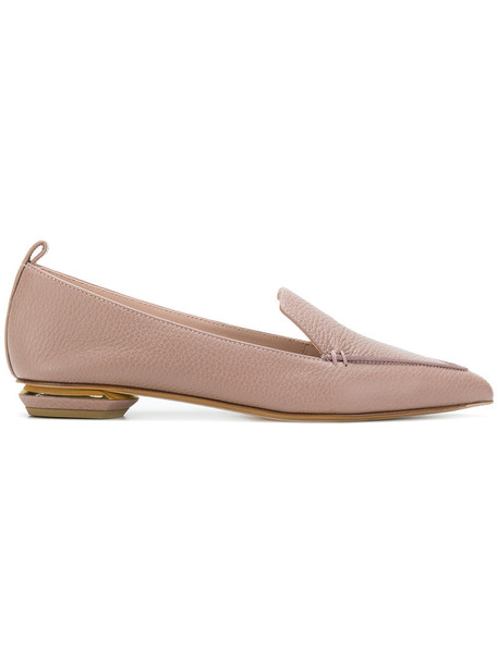 Nicholas Kirkwood women loafers leather purple pink shoes