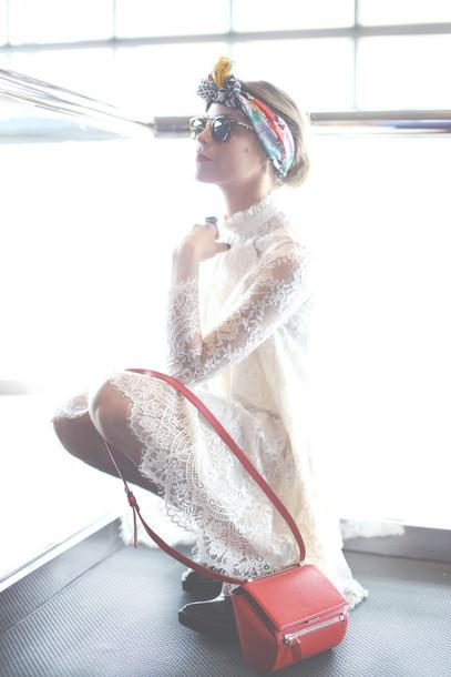 happily grey dress shoes bag sunglasses scarf lace dress headband