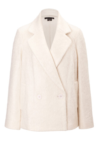 jacket mohair wool beige
