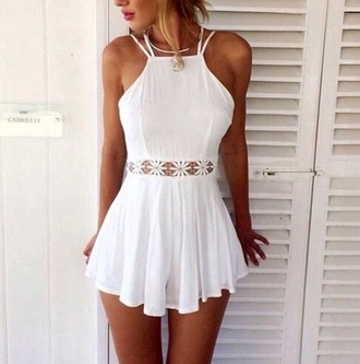 romper white play suit white dress weheartit lace floral dress floral romper