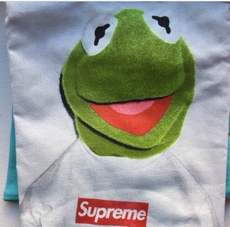 shirt supreme supreme t-shirt kermit the frog