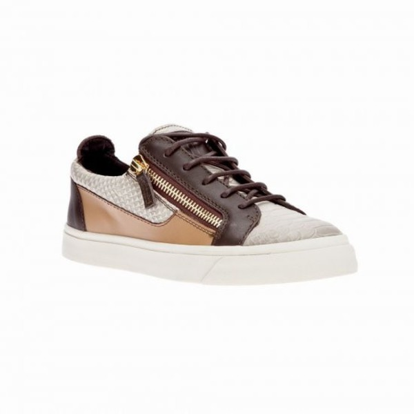 sneakers low cut shoes converse brown shoes zip leather snakeskin sneakers casual shoes footwear