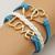 [grxjy51201249]Vintage Dual Hearts LOVE Pendant Multilayer Woven Bracelet