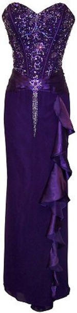 dress prom purple formal sequins formal dress long dress prom dress