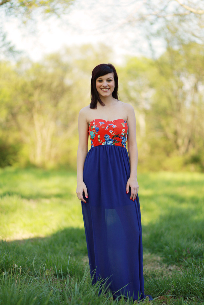 Floral Lust Maxi Dress in Red & Blue – boutique posh