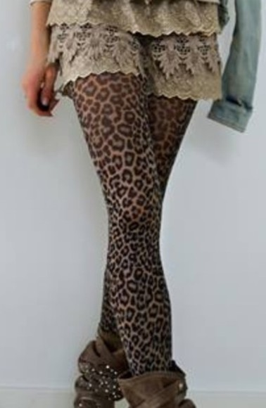 pants pantyhose tights, leopard tights, leopard pantyhose