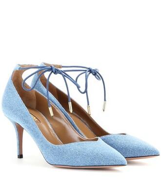 denim pumps blue shoes