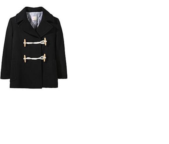 coat duffle coat black navy toggle coat Toggle boyfriend coat short coat