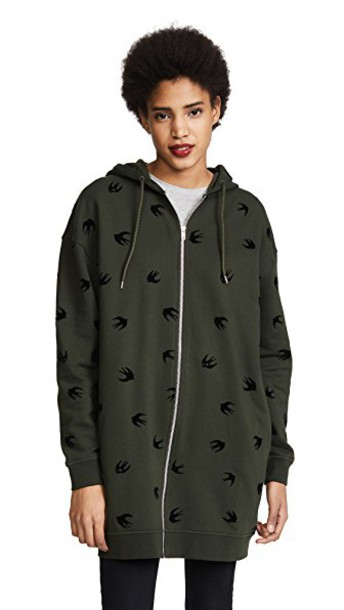 sweatshirt zip khaki sweater