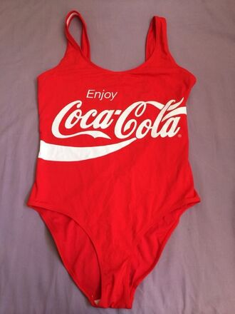 swimwear low back swimsuit low back red swimwear red bikini coca cola monokini