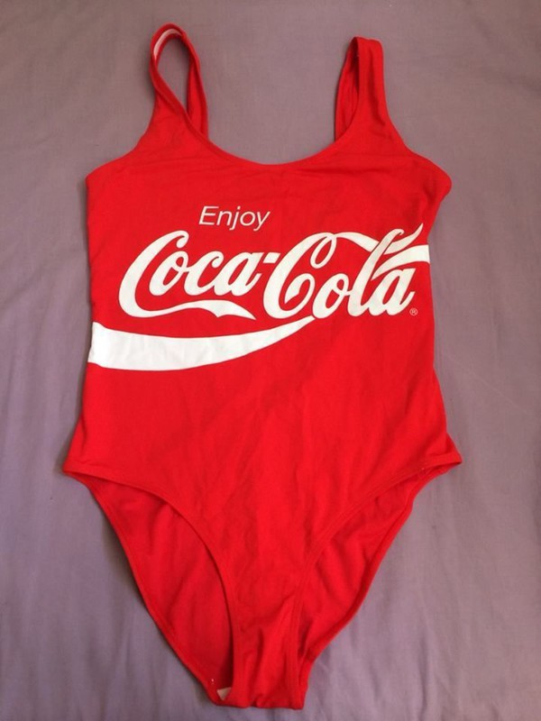 Coca Cola Coke Red Swimsuit Swim Costume Bikini Holiday