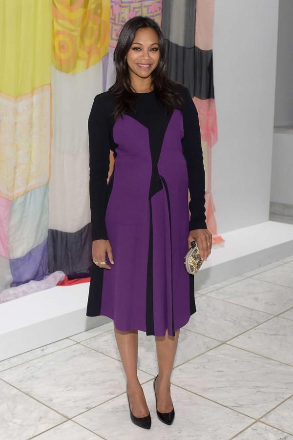 dress zoe saldana purple dress purple maternity dress