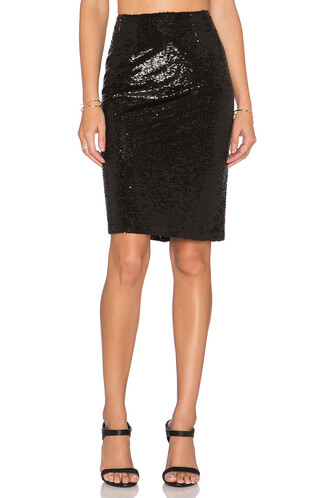 skirt sequin skirt black