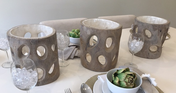 home accessory candleholder wood candle holder
