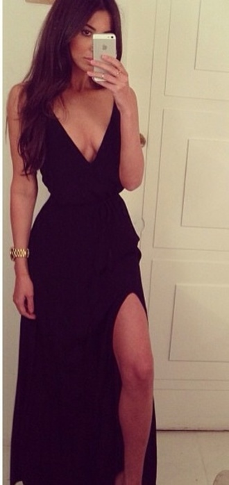 dress black maxi prom long long dress lol prom! cute sleeveless prom dress 2014