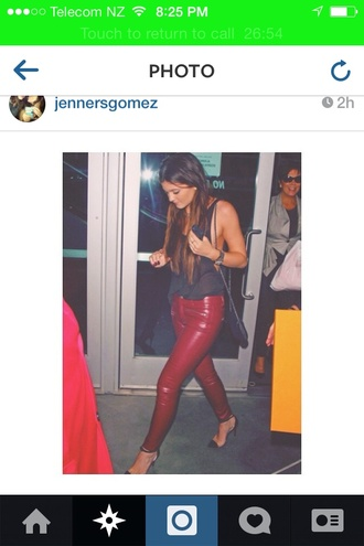 red pants pants shoes kylie jenner gorgous must have