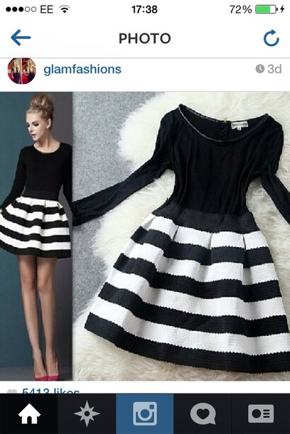 dress black and white stripes black and white dress striped dress style black dress