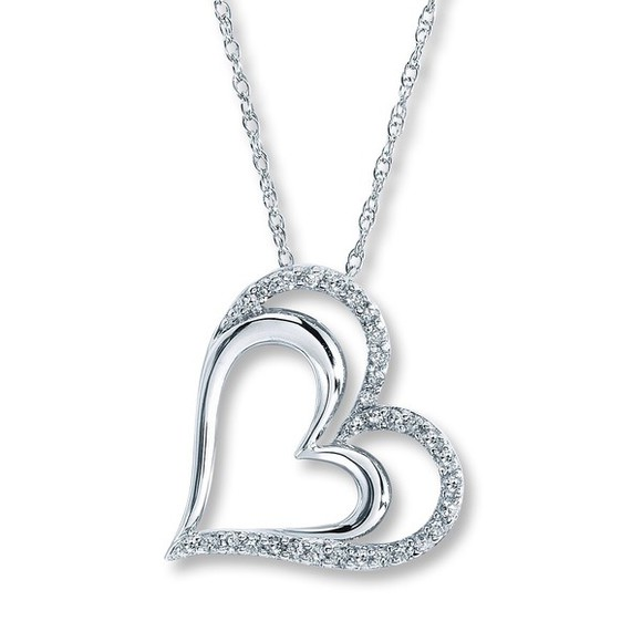 jewels diamond heart necklace