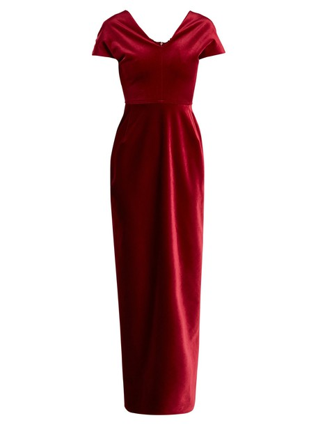 Emilio De La Morena gown velvet red dress