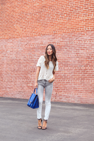 song of style t-shirt jeans shoes jewels bag