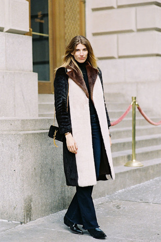 vanessa jackman blogger coat jeans bag