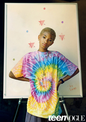 shirt willow smith rainbow grunge cute swag unicorn tshirt colorful