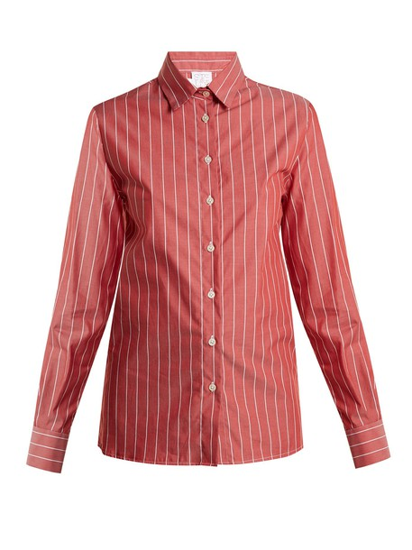 STELLA JEAN shirt cotton red top