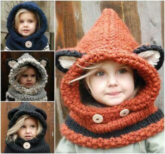 hat kids fashion knitwear