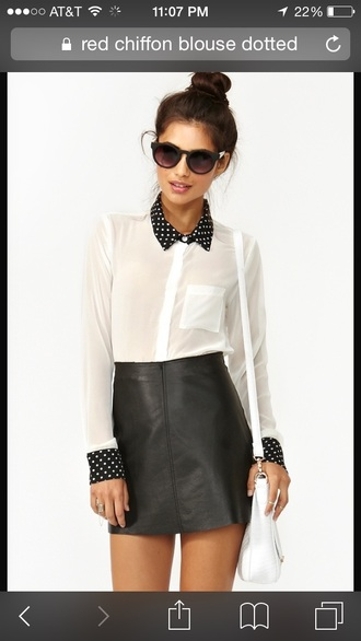 blouse black and white blouse