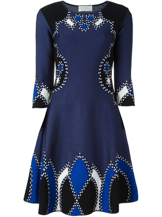dress knitted dress blue