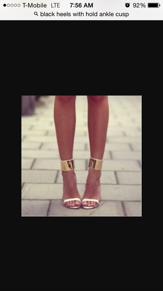 shoes white ankle gold cusp