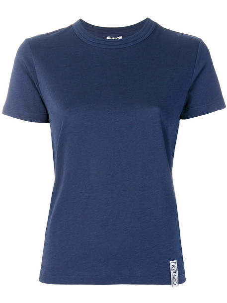 Kenzo t-shirt shirt t-shirt women cotton blue top
