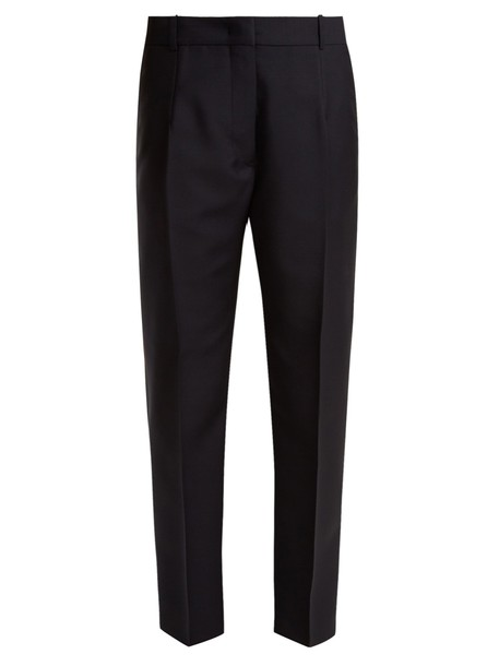 Jil Sander mohair wool navy pants