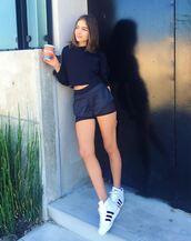 shorts,top,adidas,olivia culpo,crop tops,instagram