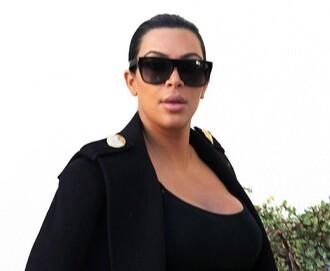 sunglasses kim kardashian kardashians los angeles black stylish shades cute sexy nice love lovely